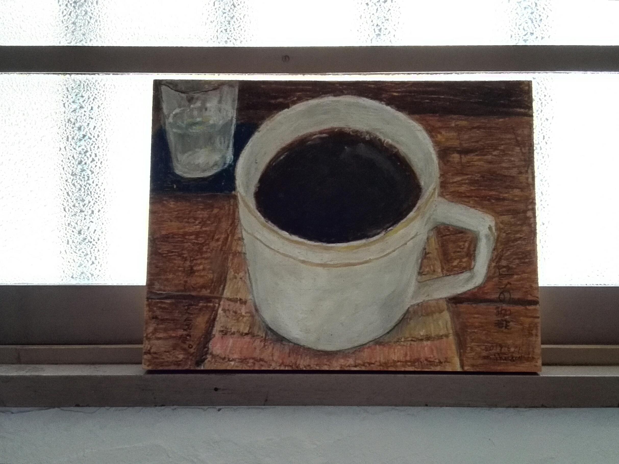 マメイケダさんが描いた喫茶路地のブレンドコーヒー