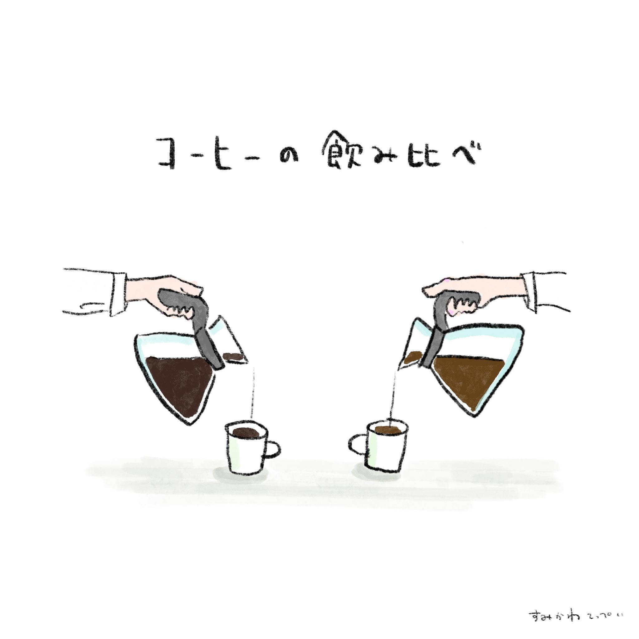 コーヒーの飲み比べ 喫茶路地